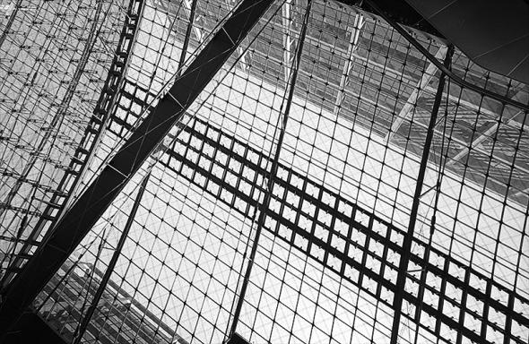 Hauptbahnhof Berlin, Struktur des Tonnendaches - © bildraum-f | fotografie