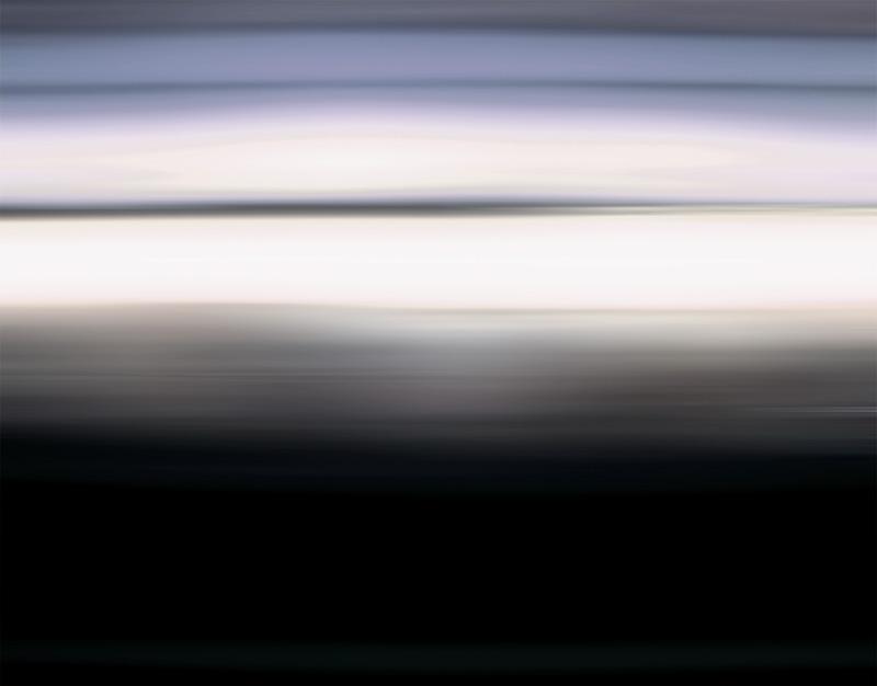 black box white noise, mediales Rauschen einer Ultralanzeitbelichtung der Landschaft waehrend einer Autofahrt - © bildraum-f   fotografie