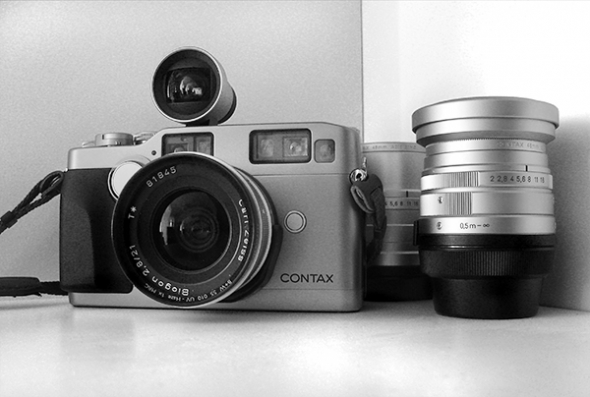 Contax G2 mit 21mm f/2.8 Zeiss-Biogon, Aufstecksucher - © bildraum-f | fotografie