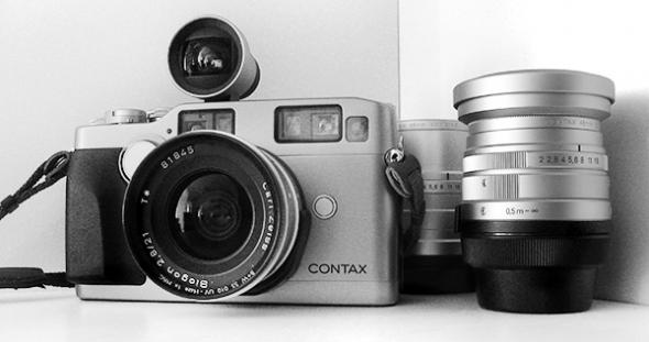 Kyocera Contax G2 mit 21mm f/2.8 Zeiss-Biogon, Aufstecksucher - © bildraum-f | fotografie