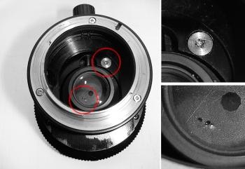 Nikon PC-Nikkor 28mm f3.5 CLA Schaden