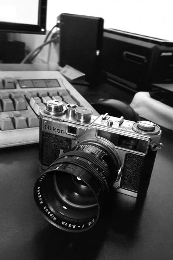 Messucherkamera Nikon SP, Nikkor-S.C 8.5cm f/1.5 - © bildraum-f | fotografie