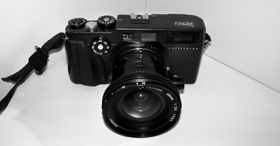 Hasselblad XPan mit Nikon Adapter und PC-Nikkor 28mm f/3.5 AIs