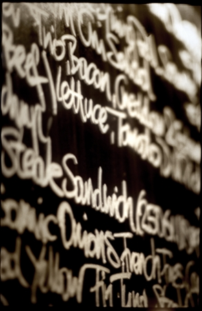tafelbild | charcoalscript - © bildraum-f | fotografie